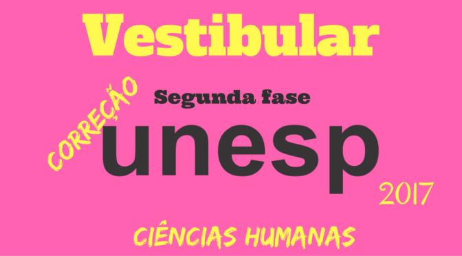 Vestibular Unesp 2017 – segunda fase