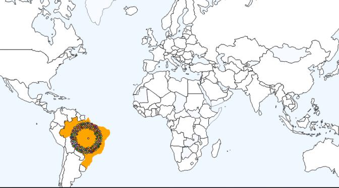 Mapa interativo sobre as migrações