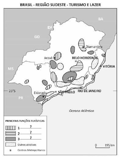 Questão 70_Fuvest_mapa brasil região sudeste turismo e lazer.png