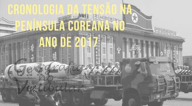 Cronologia da tensão na península coreana no ano de 2017.