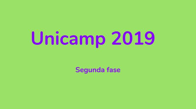 Unicamp 2019: segunda fase
