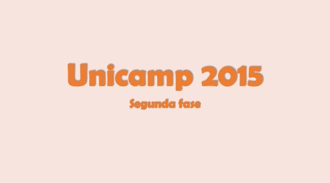 Unicamp 2015: segunda fase