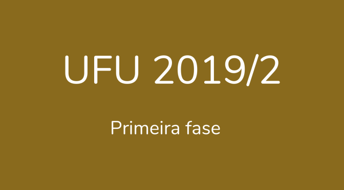 UFU 2019/2: questões de geografia