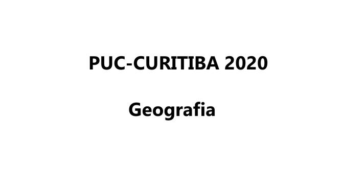 PUC Curitiba 2020