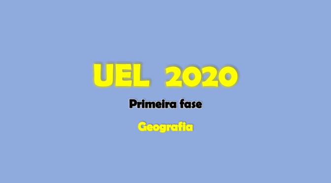 UEL 2020: Questões de geografia