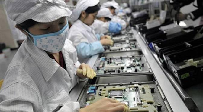 A cadeia de produção do IPhone
