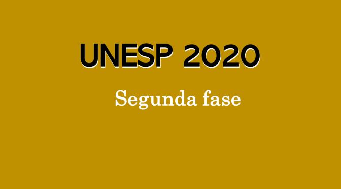 5 exercícios da unesp 2020 (segunda fase)