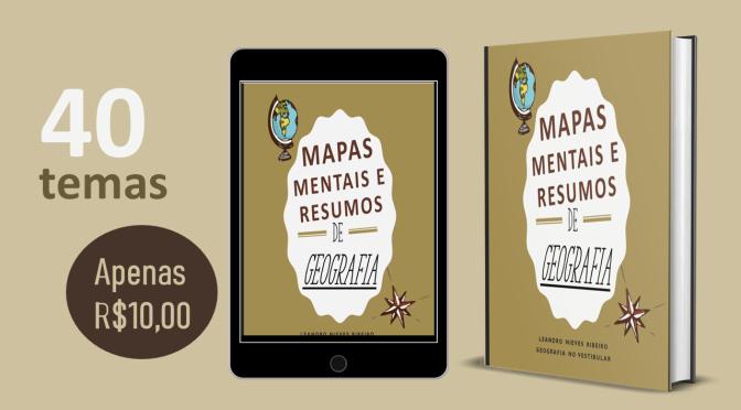 E-book com mapas mentais e resumos de geografia