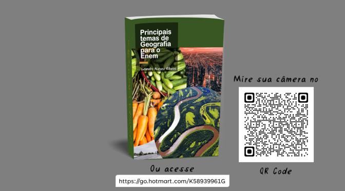 """E-book """"Principais temas de geografia para o Enem"""""""