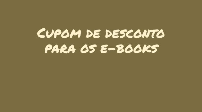 Cupons com desconto no e-books